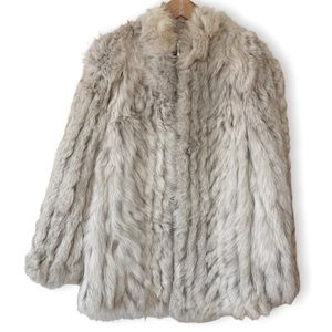Saga Fox Vintage Blue Fox Fur Coat size Small